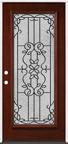 Full Lite Pre-finished Mahogany Wood Door Prehung Door Unit #2080
