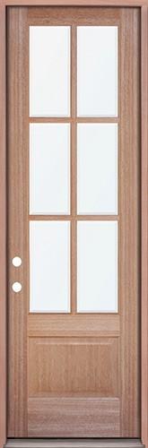 """8'0"""" Tall 6-Lite Mahogany Prehung Wood Door Unit"""