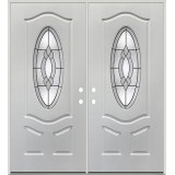 3/4 Oval Fiberglass Prehung Double Door Unit #4031