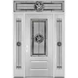 Texas Star 3/4 Lite Fiberglass Prehung Door Unit with Transom #4032