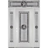 Texas Star Full Lite Fiberglass Prehung Door Unit with Transom #4038