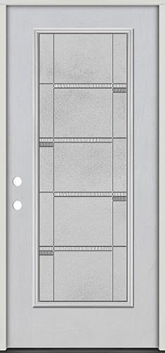 Full Lite Fiberglass Prehung Door Unit #4072