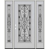 Full Lite Fiberglass Prehung Door Unit with Sidelites #4075