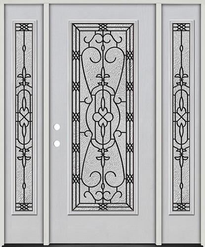 Full Lite Fiberglass Prehung Door Unit with Sidelites #4075