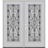 Full Lite Fiberglass Prehung Double Door Unit #4075