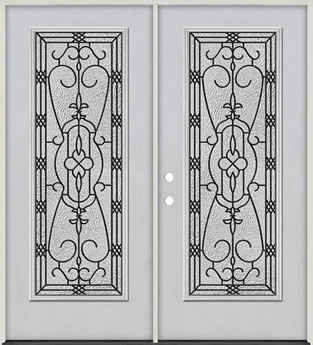 Full Lite Fiberglass Prehung Double Door Unit #4075