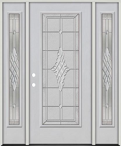 Full Lite Fiberglass Prehung Door Unit with Sidelites #4076