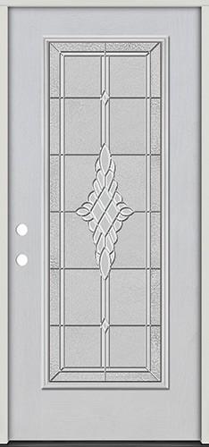 Full Lite Fiberglass Prehung Door Unit #4076