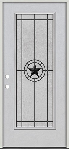 Full Lite Fiberglass Prehung Door Unit #4077