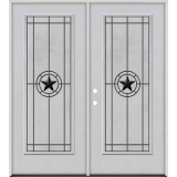 Full Lite Fiberglass Prehung Double Door Unit #4077