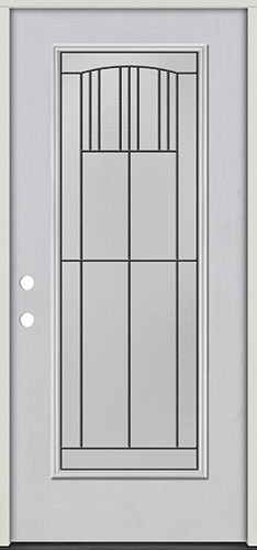 Full Lite Fiberglass Prehung Door Unit #4078