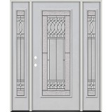Full Lite Fiberglass Prehung Door Unit with Sidelites #4079