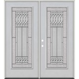 Full Lite Fiberglass Prehung Double Door Unit #4079