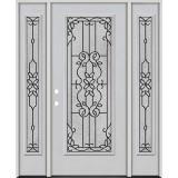 Full Lite Fiberglass Prehung Door Unit with Sidelites #4080