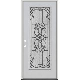 Full Lite Fiberglass Prehung Door Unit #4080