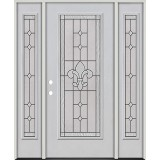 Full Lite Fiberglass Prehung Door Unit with Sidelites #4081