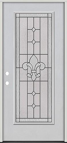 Full Lite Fiberglass Prehung Door Unit #4081