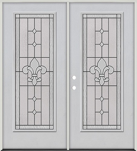 Full Lite Fiberglass Prehung Double Door Unit #4081