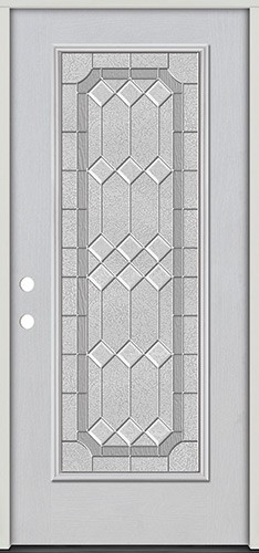 Full Lite Fiberglass Prehung Door Unit #4082