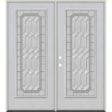 Full Lite Fiberglass Prehung Double Door Unit #4082
