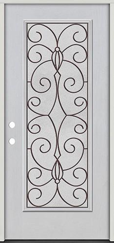 Full Lite Fiberglass Prehung Door Unit #4083