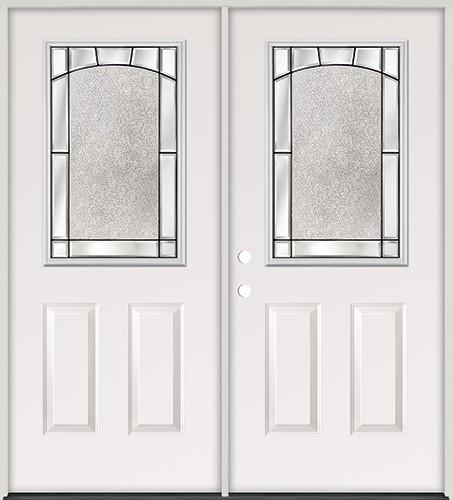 Half Lite Steel Prehung Double Door Unit #5013
