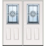 Half Lite Texas Star Steel Prehung Double Door Unit #5015