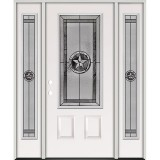 Texas Star 3/4 Lite Steel Prehung Door Unit with Sidelites #5032