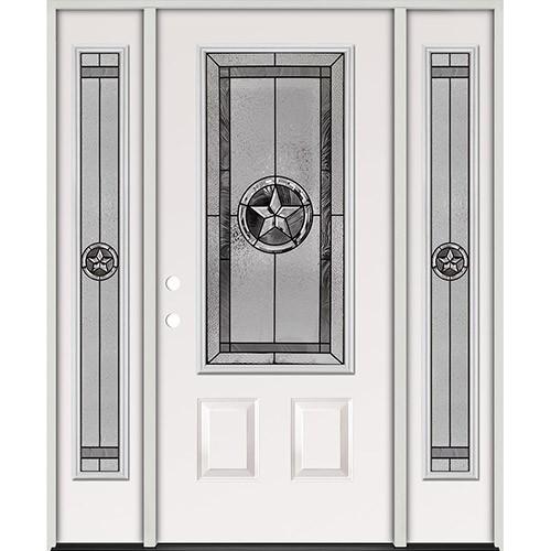 Texas Star 3/4 Lite Steel Prehung Door Unit with Sidelites #5032