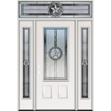 Texas Star 3/4 Lite Steel Prehung Door Unit with Transom #5032