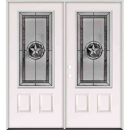 Texas Star 3/4 Lite Steel Prehung Double Door Unit #5032