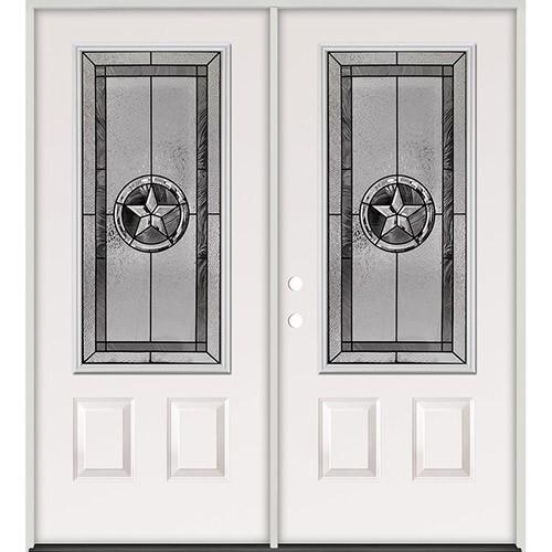 Texas Star 3/4 Lite Steel Prehung Double Door Unit #5032