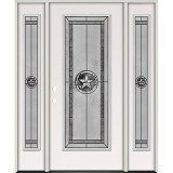 Texas Star Full Lite Steel Prehung Door Unit with Sidelites #5038