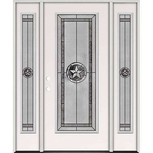 Texas Star Full Lite Steel Prehung Door Unit with Sidelites #5038