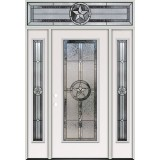 Texas Star Full Lite Steel Prehung Door Unit with Transom #5038