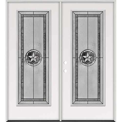 Texas Star Full Lite Steel Prehung Double Door Unit #5038