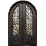 "74"" x 110"" Blossom Prehung Iron Double Door Unit"