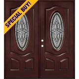 Special Buy - Model C: 3/4 Oval Pre-finished Fiberglass Double Door Unit