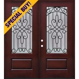 Special Buy - Model D: 3/4 Lite Pre-finished Fiberglass Double Door Unit