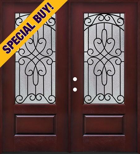 Special Buy - Model D: 3/4 Lite Pre-finished Fiberglass Double Door Unit