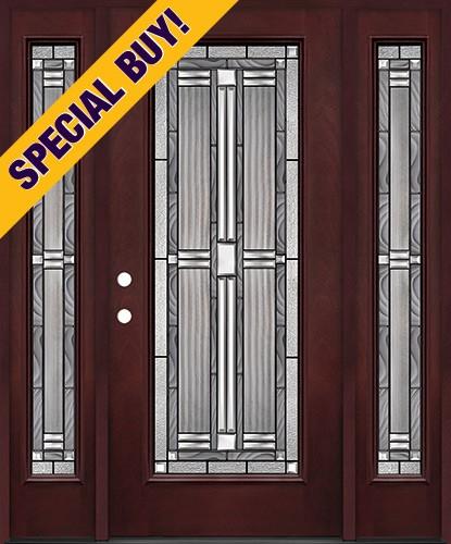 Special Buy - Model G: Full Lite Pre-finished Fiberglass Door Unit with Sidelites