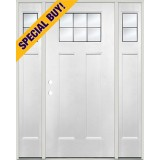 Special Buy - Model J: Beveled Craftsman Fiberglass Door Unit with Sidelites