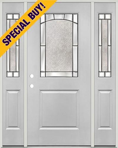 Special Buy - Model K: Half Lite Fiberglass Door Unit with Sidelites