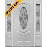 Special Buy - Model L: 3/4 Oval Fiberglass Door Unit with Sidelites