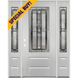 Special Buy - Model N: 3/4 Lite Fiberglass Door Unit with Sidelites