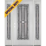Special Buy - Model P: Full Lite Fiberglass Door Unit with Sidelites