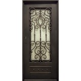 "37"" x 81"" Victorian Prehung Iron Door Unit"