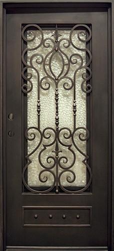 "37"" x 81"" Victorian Prehung Iron Door Unit"