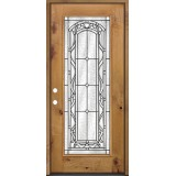 Full Lite Knotty Alder Prehung Wood Door Unit #292