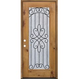 Full Lite Knotty Alder Prehung Wood Door Unit #299